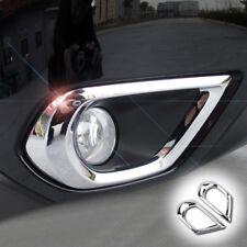 Front Fog Light Lamp Bumper Chrome Cover Trim For Subaru Forester SJ 2013 - 2016