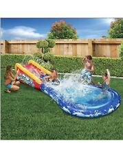 Inflatable Water Slide + Pool 🔥 Banzai Wave Thrasher Surf Slide w/ Body Board