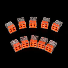 10Pcs PCT-104 wire connector for junction box 4 pin conductor terminal block PDQ