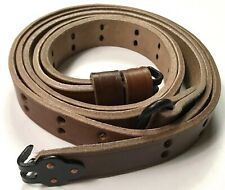 WWII US M1 GARAND RIFLE M1907 LEATHER CARRY SLING-1 inch