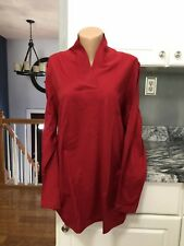 Womens Thermal Shawl Top New Size 4X 34/36 By Roamans RED