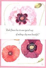 Friendship Colorful Purple Poppy Poppies By Marjolein Bastin Hallmark Card