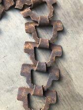 Vintage Farm Barn Chain Link Machinery Industrial Feeder Chain Steampunk Rusty