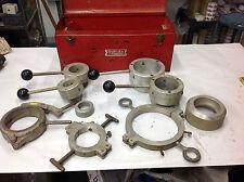 """P&E Engineering 1-1/2, 2, 3, 4"""" Plastic Pvc Grooving Die Tool Assort w/Metal Box"""