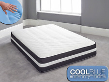 Cool Blue Memory Foam Mattress Sprung 3ft Single 4ft6 Double 5ft King 6ft S King