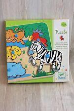 Djeco - puzzle bois animaux savane - pour bébé à partir de 12 mois