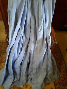"Beautiful Pair Pale Blue Brocade Curtains 54""w(106"")x60""d"