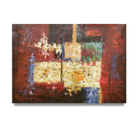 NY Art - Red White & Blue Modern Abstract 24x36 Original Oil Painting - On Sale!