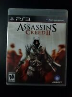 Assassin's Creed II 2 Black Label Sony Playstation 3 PS3 MINT condition COMPLETE