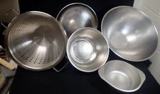 (5) Pc. Stainless Steel Heavy Duty Foodservice Mixing Bowls Colander & Tray