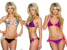 Eleganter Bikini-Set Push up mit Schmuck-Element Bademode Damen Gr 34//36 Cup A
