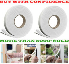 2 X 5M Foam Draught Excluder Weather Seal Strip Insulation Door Window Tape New