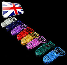 T Shape Style Plastic Dummy Pacifier Clips Plastic Badge Clips (Clips Only)