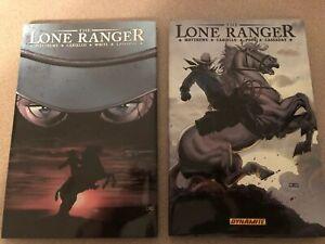 Lone Ranger HC Volume 1 & 2 (Dynamite) 1ST Printing 2008 NM Hardcover