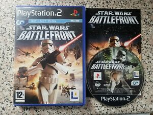 Star Wars: Battlefront (Sony PlayStation 2, 2004) WITH MANUAL