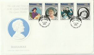 1985 Bahamas FDC cover 85th Birthday of Queen Elizabeth the Queen Mother