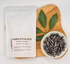 CHARBON VEGETAL ACTIVE 400 gélules dosées à 300mg enveloppe gélule 100% végétale