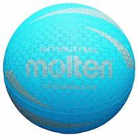 Molten S2V1250-C Soft Touch Non Slip & Non Sting Rubber Blue Volleyball