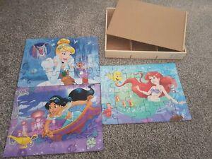 Set Of 3 24 Piece Disney Princess Puzzles
