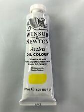 Winsor & Newton Artists' Oil Colour Series 4 37ml 1.25 Cadmium Lemon NEW