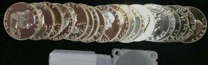 20 Coin Roll 1962 Franklin Half Dollar Proofs Brilliant SILVER PROOF
