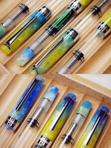 PENBBS 309 Acrylic Piston Filling Fountain Pen - Hawaii (transparent)