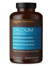 Amazon Elements Calcium Complex with Vitamin D, 250 mg Calcium per Serving (3...