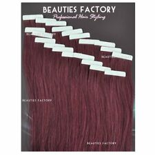 BF DIY Super Adhesive Tape in Skin Weft 100 Remy Human Hair Extensions #99j Cheryl Cole Red (hair505) 50 Gram (20pcs) Light Volume