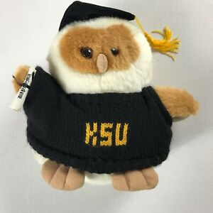 "Kennesaw State Plush Owl 8"" Stuffed Graduate Diploma Cap Sweater Student Alumni"