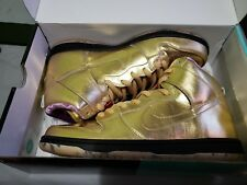 new concept 3187b 82bf4 Nike SB X Humidity Dunk High QS Trumpet Mens Av4168-776 Gold Shoes Size 11.5