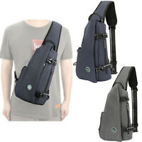 Concealed Canvas Sling Bag Backpack Anti Theft Cross Body Sling Chest Bag Pack