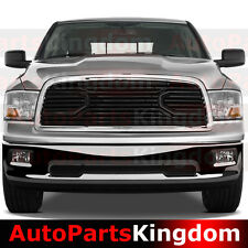 09-12 Dodge RAM 1500 Big Horn Black Packaged Grille+Chrome Shell Replacement