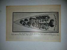 Vancouver Beavers 1913 Team Picture Pug Bennett Ed Kippert Emil Frisk Bert Hall