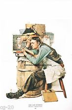 """Norman Rockwell Lawyer print """"THE LAW STUDENT"""" school BARRISTER legal Attorney's"""