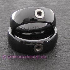 - NEU - MelanO TWISTED Keramik Ring Tracy - schwarz Gr. 57