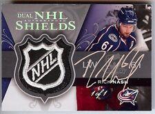2007-08 THE CUP RICK NASH / RYAN SMYTH DUAL AUTO NHL SHIELD 1/1!!
