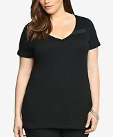 Women Plus Size V-neck Premium Basic T-shirt Soft 100% Cotton Sizes 2XL 3X 4X 5X