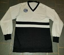 Vintage 1980s Victoria Union Striped Long Sleeve Rugby Jersey V shirt
