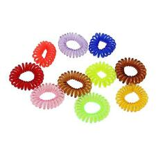 10pcs Spiral Fashion Women's Elastic Rubber Band Ponytail Hair Tie Rope Bobbles