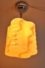 Antik Art Deco Deckenlampe Glas marmoriert Lampe lamp Jugendstil art nouveau