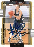 Michael Bradley Signed 2001 Upper Deck MVP Villanova Rookie Card - Raptors - COA