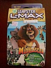 LeapFrog Leapster L-Max Learning Game System Cartridge Madagascar Ages 6-8 NOS