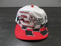 VINTAGE Nascar Hat Cap White Red Dale Earnhardt Jr Racing Racer Racecar Mens 90s