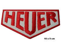 Heuer Deportes de Motor Blanco y Rojo Logo Carreras Hierro/Parche Insignia