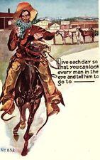 1906 Artist Signed Gun Slinger Wild West H.H. Tammen Postcard P123