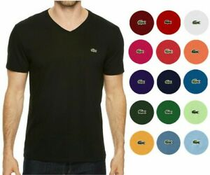 MENS LACOSTE S/S REGULAR FIT PIMA JERSEY V-NECK T-SHIRT, PICK A COLOR & SIZE