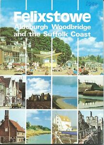 FELIXSTOWE 1988 Official Holiday Guide illustrated information adverts Suffolk