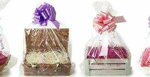 X LARGE Clear Gift Bag HAMPER Baskets,Teddies,Clothes Cellophane Wrap DIY GIFT
