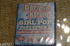 Party Tyme Karaoke: Girl Pop Party Pack 5 New Sealed CD Fast Free Shipping!