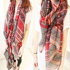 Women Long Neck Large Scarf Wrap Shawl Pashmina Scarves Chiffon Cotton Fashion